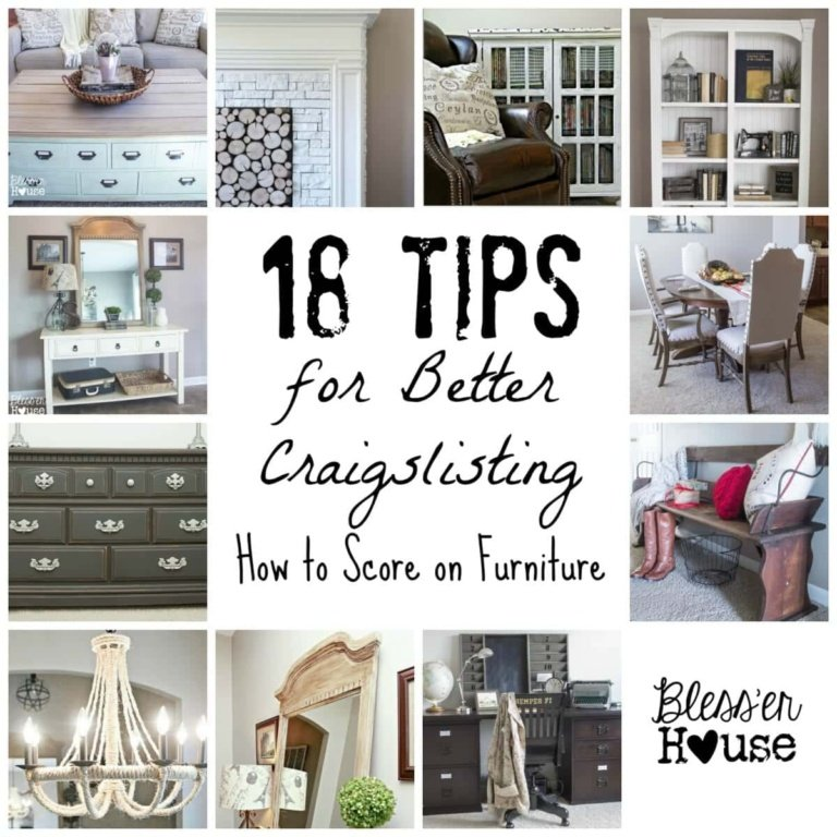 18 Tips for Better Craigslisting: How to Score on Furniture