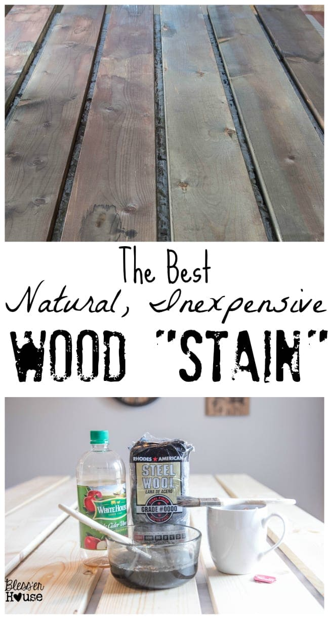 The Most Inexpensive All Natural Wood Stain Method Bless Er House
