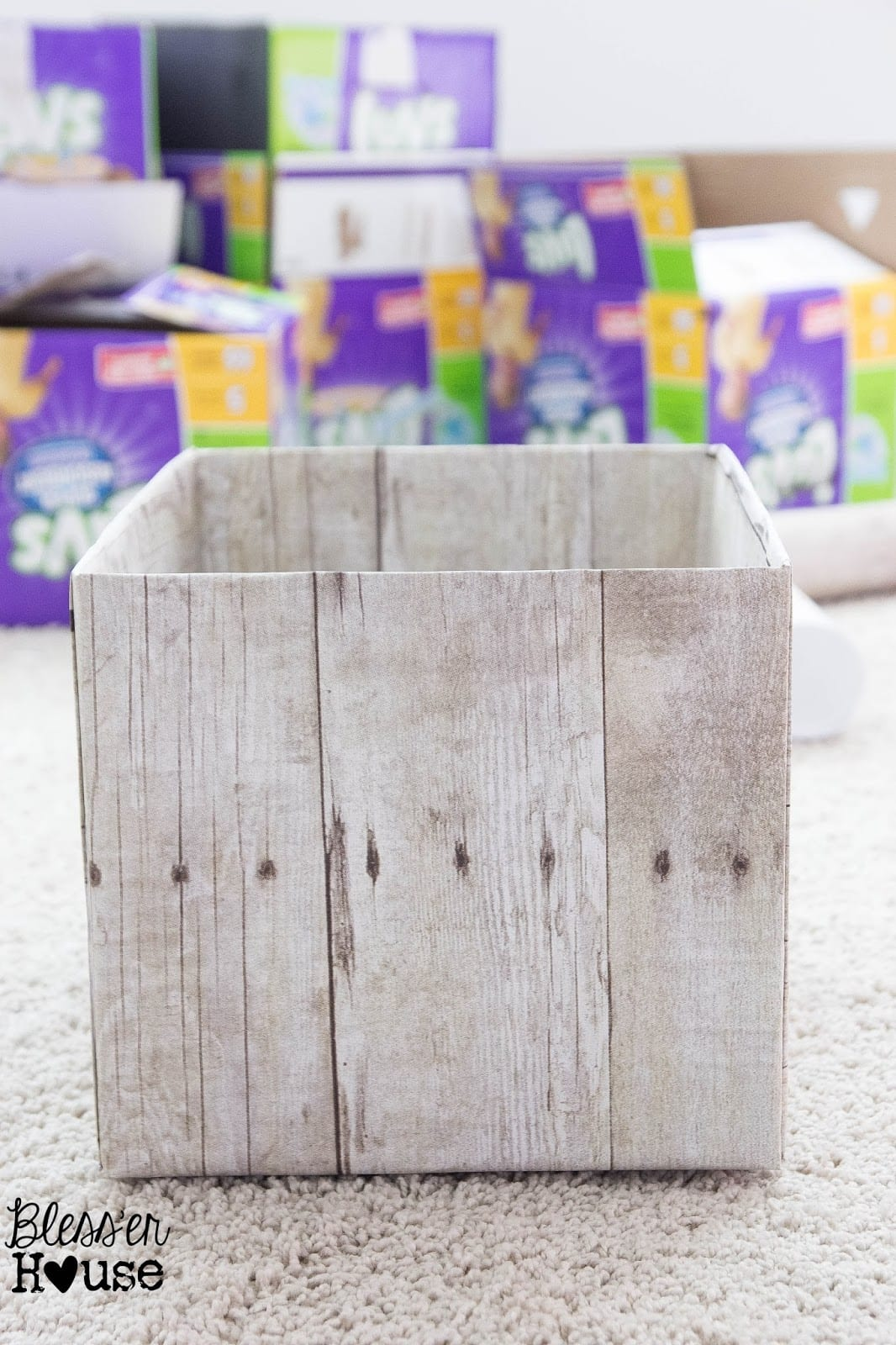 Bless'er House | DIY Weathered Wood Pantry Crates for Cheap