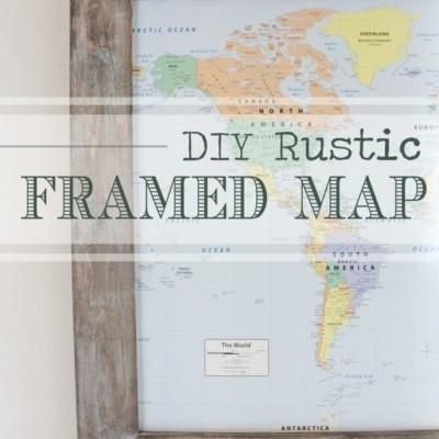 DIY Rustic Framed Map