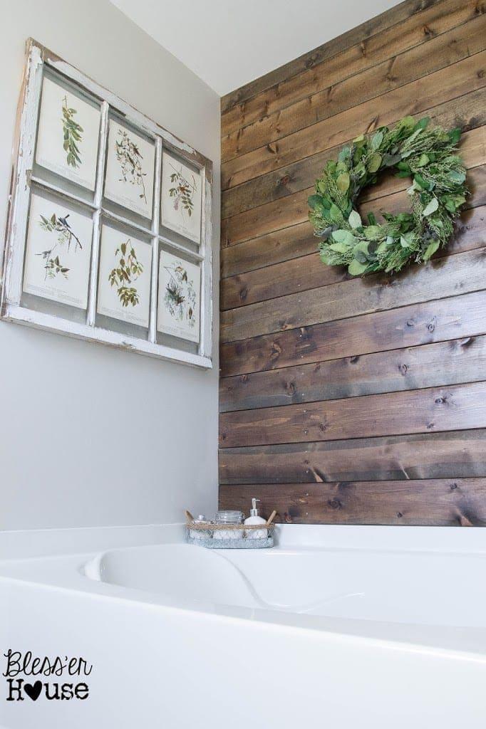 Bathroom Budget Makeover | Builder Grade to Rustic Industrial | Bless'er House