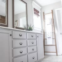 Master Bathroom Budget Makeover: Builder Grade to Rustic Industrial