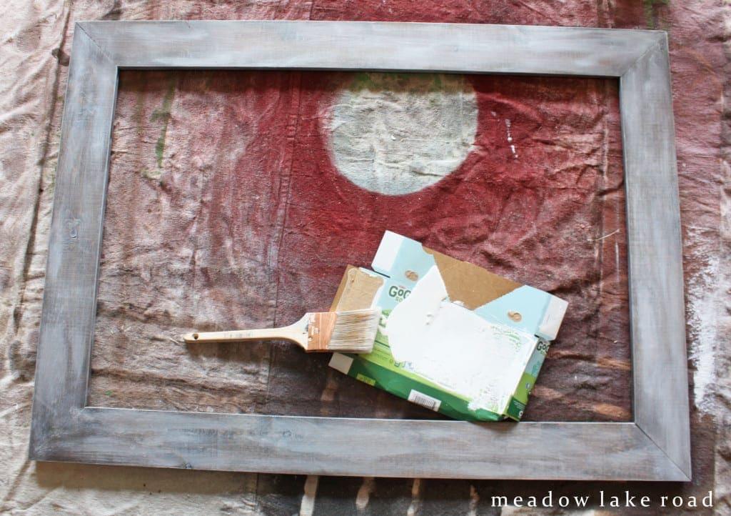 dry brushed wood frame