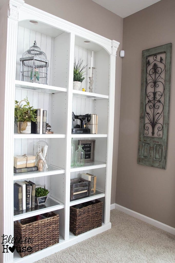 How To Decorate A Bookcase restyling a bookcase: less is more - bless'er house