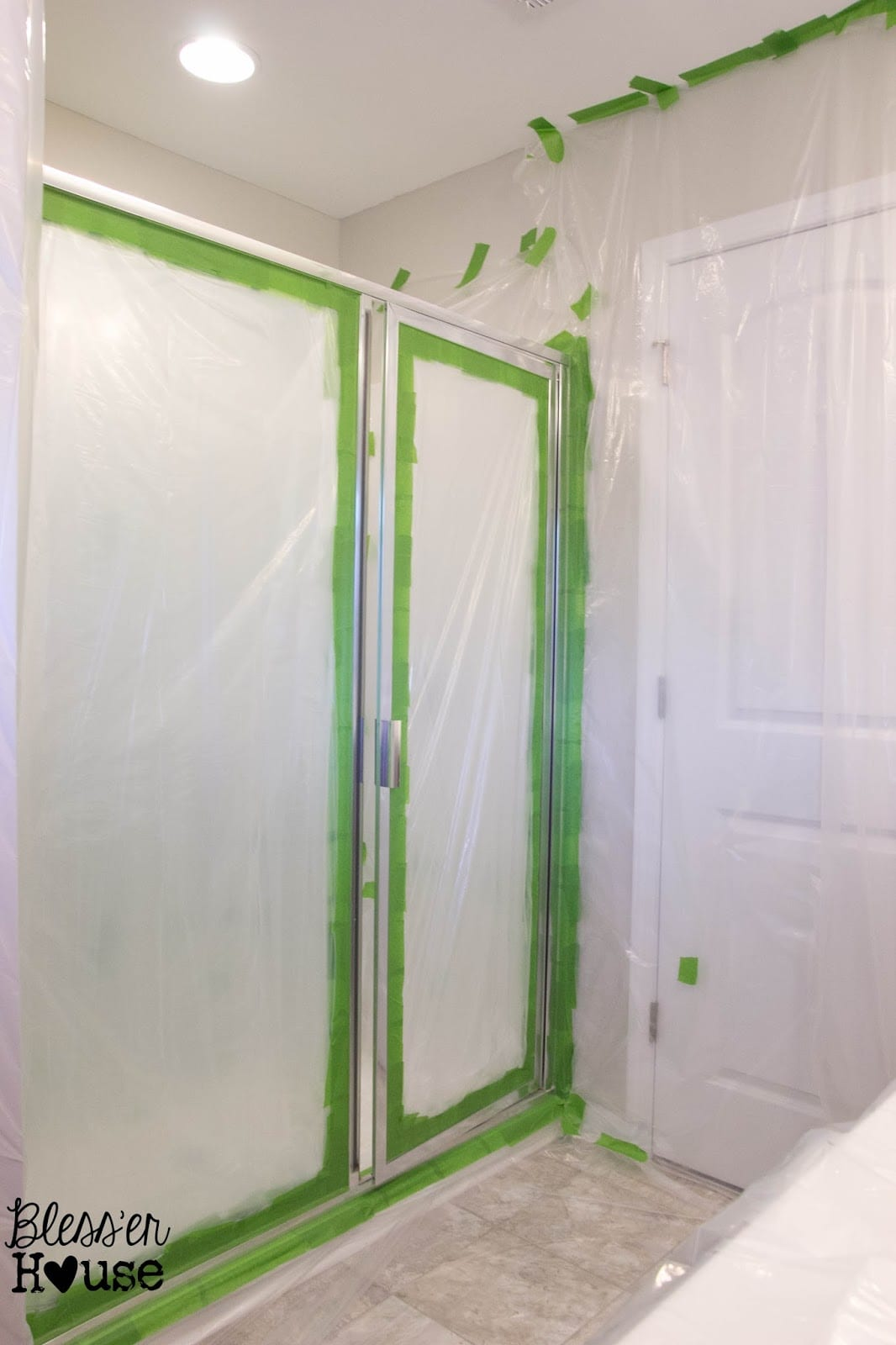 How NOT to Paint a Shower Door (And How to Fix Spray Paint