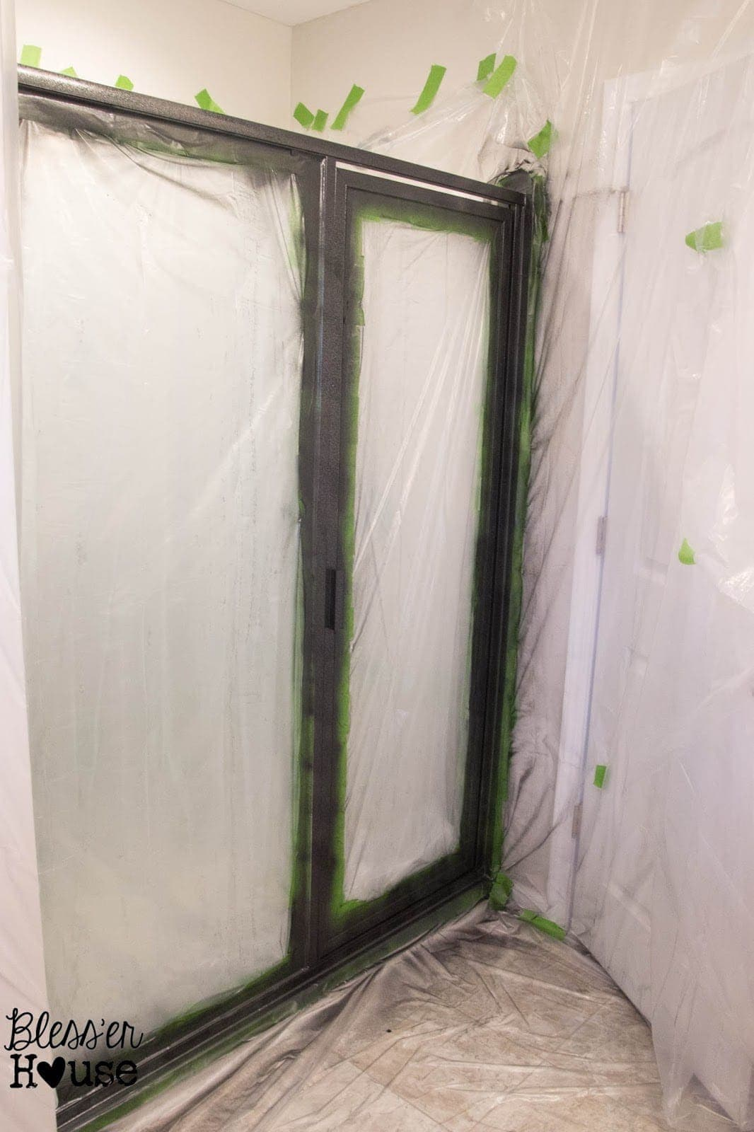 How NOT to Paint a Shower Door (And How to Fix Spray Paint Mistakes) | Bless'er House