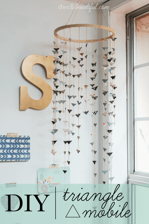 Diy Bohemian Chic Triangle Mobile Blesser House