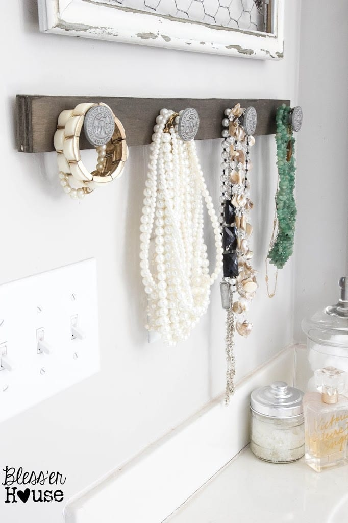 DIY Rustic Industrial Jewelry Organizer Blesser House