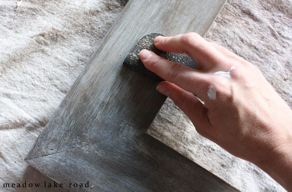 sanding white paint