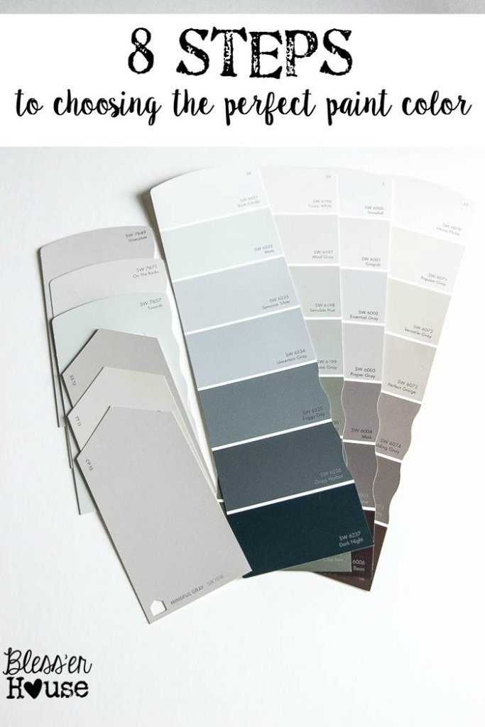 8 steps to choosing the perfect paint color bless 39 er house for Deciding on paint colors