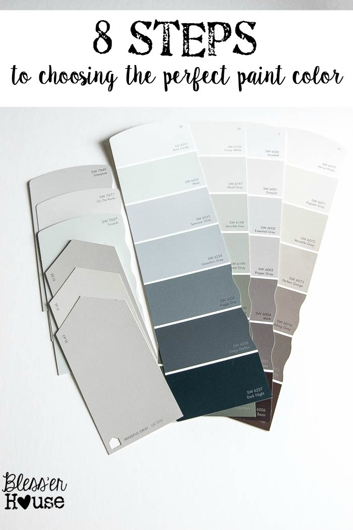 8 Steps To Choosing The Perfect Paint Color Bless 39 Er House