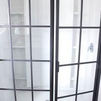 DIY Industrial Factory Window Shower Door