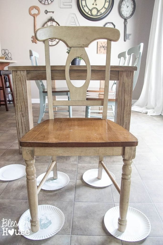 Miraculous Distressed Duck Egg Dining Chairs Makeover Blesser House Cjindustries Chair Design For Home Cjindustriesco