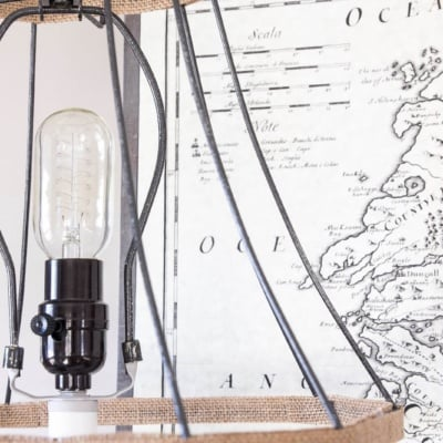 Joanna Gaines Inspired Industrial Farmhouse Lamp {February Pinterest Challenge}