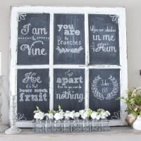Chalkboard Hand Lettering the Easy Way & Spring Shelf Vignette