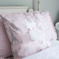 No Sew Appliqued Ballerina Pillow