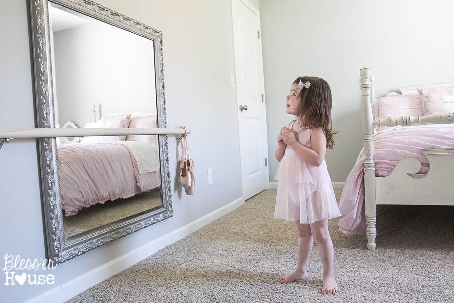 Diy Ballet Barre And How To Hang A Heavy Mirror Bless Er House