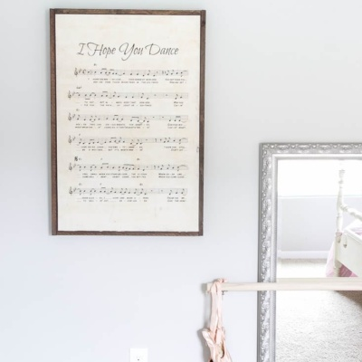 DIY Oversized Sheet Music Sign