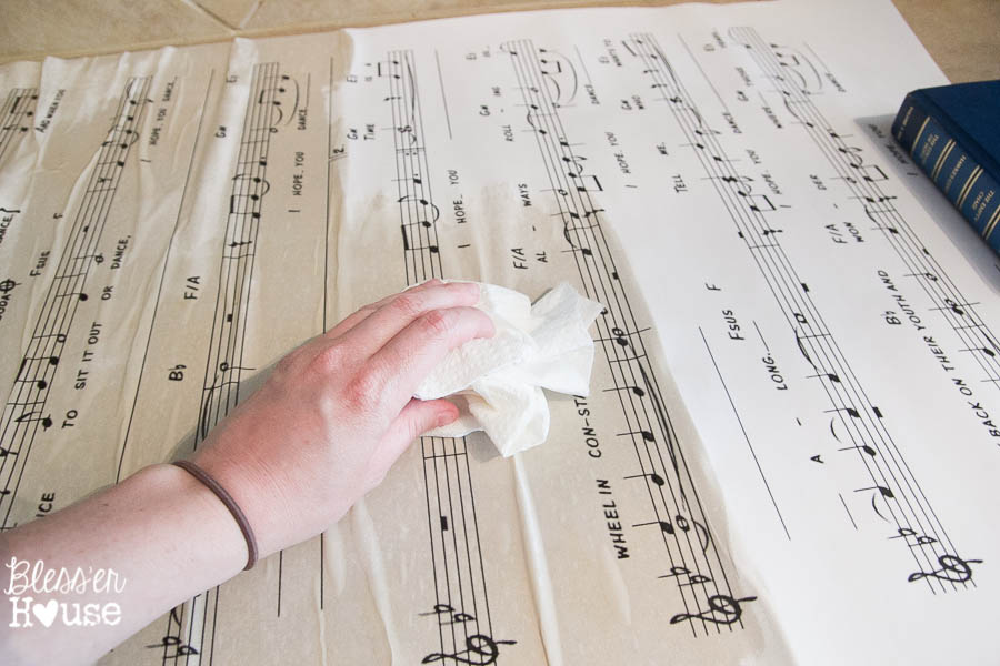 DIY Oversized Sheet Music Wooden Sign - RH Baby and Child KnockOff | Bless'er House