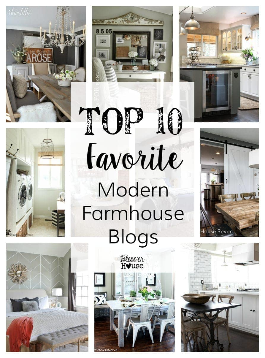 Top 10 Favorite Modern Farmhouse Blogger Home Tours | Bless'er House -  Every single