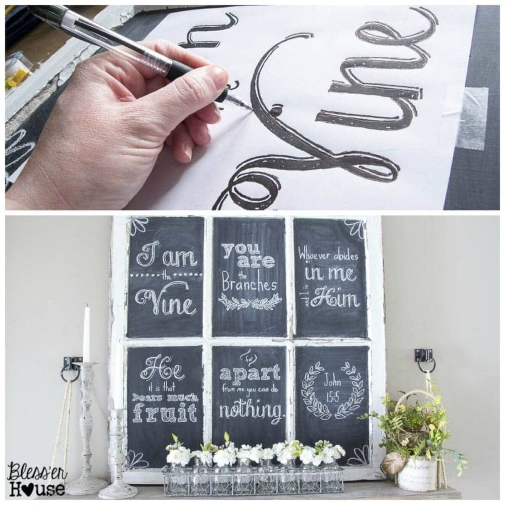 10 Must-Have Craft Supplies for Endless Money Saving Projects   Bless'er House- Print any lettering or design and trace to make easy handlettering.