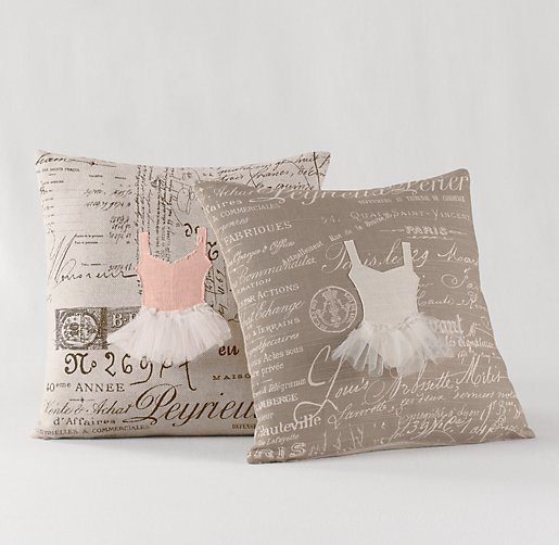 No Sew Appliqued Ballerina Pillow {RH Baby and Child KnockOff} | Bless'er House