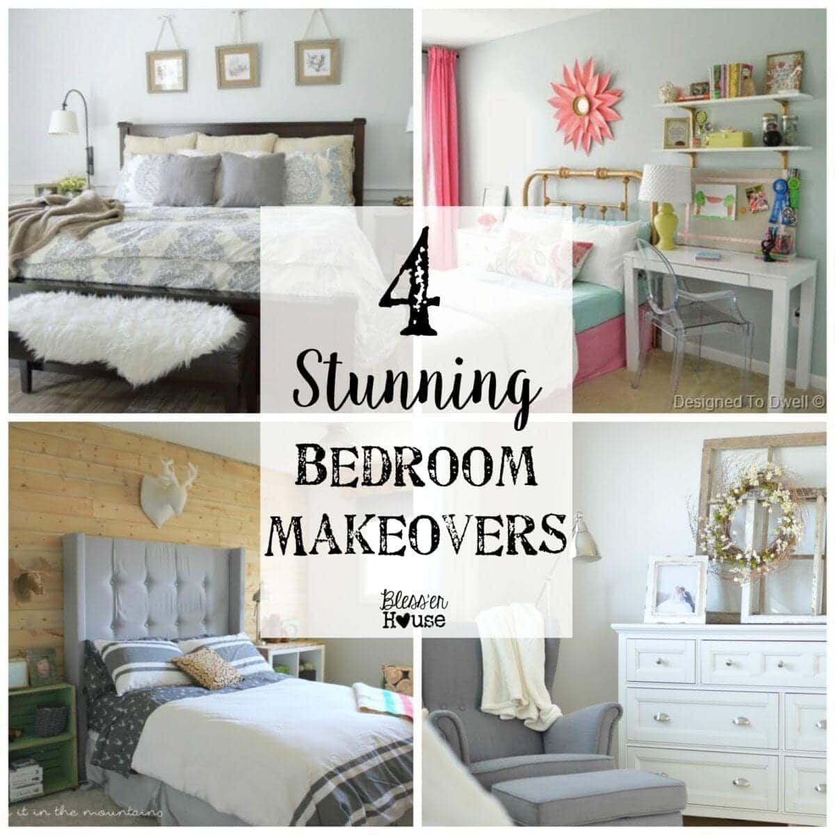 Summer Home Makeover Easy Cheap Ideas: 4 Stunning Bedroom Makeovers