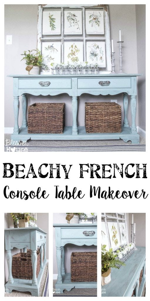 Beachy French Console Table Makeover | Bless'er House
