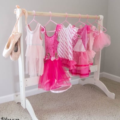 DIY Dress Up Rack from a Repurposed Bassinet Cradle