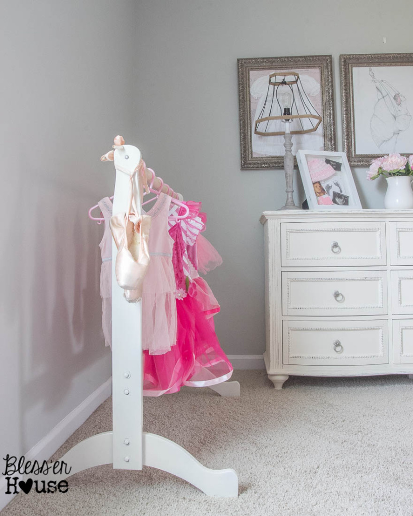 DIY Dress Up Rack Repurposed Bassinet Cradle | Bless'er House - This is so easy!  Great way to reuse baby furniture little ones have outgrown!