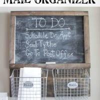 DIY Locker Basket Mail Organizer (Remodelaholic Post)