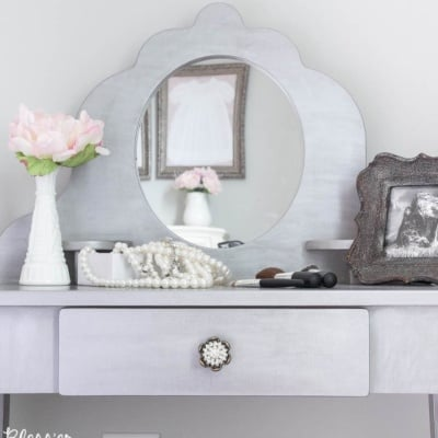 Gilded Silver Vanity Makeover