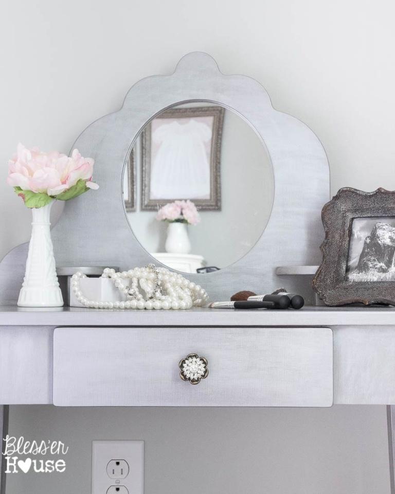 Gilded Silver Vanity Makeover