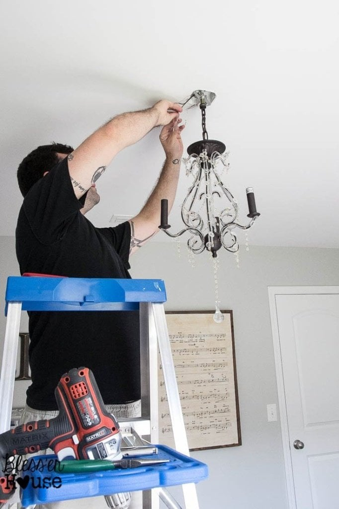 Hanging a Steal of a Chandelier | Bless'er House