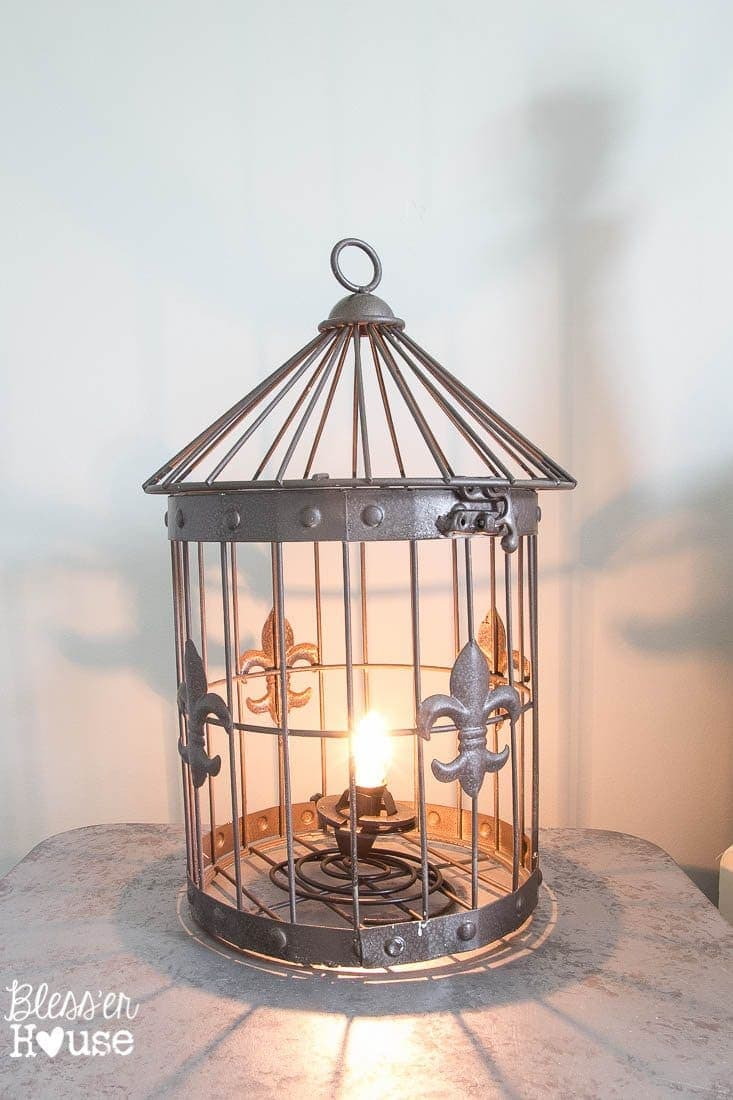 lamps lighting bird fans birdcage ceiling photo and lamp ideas cage