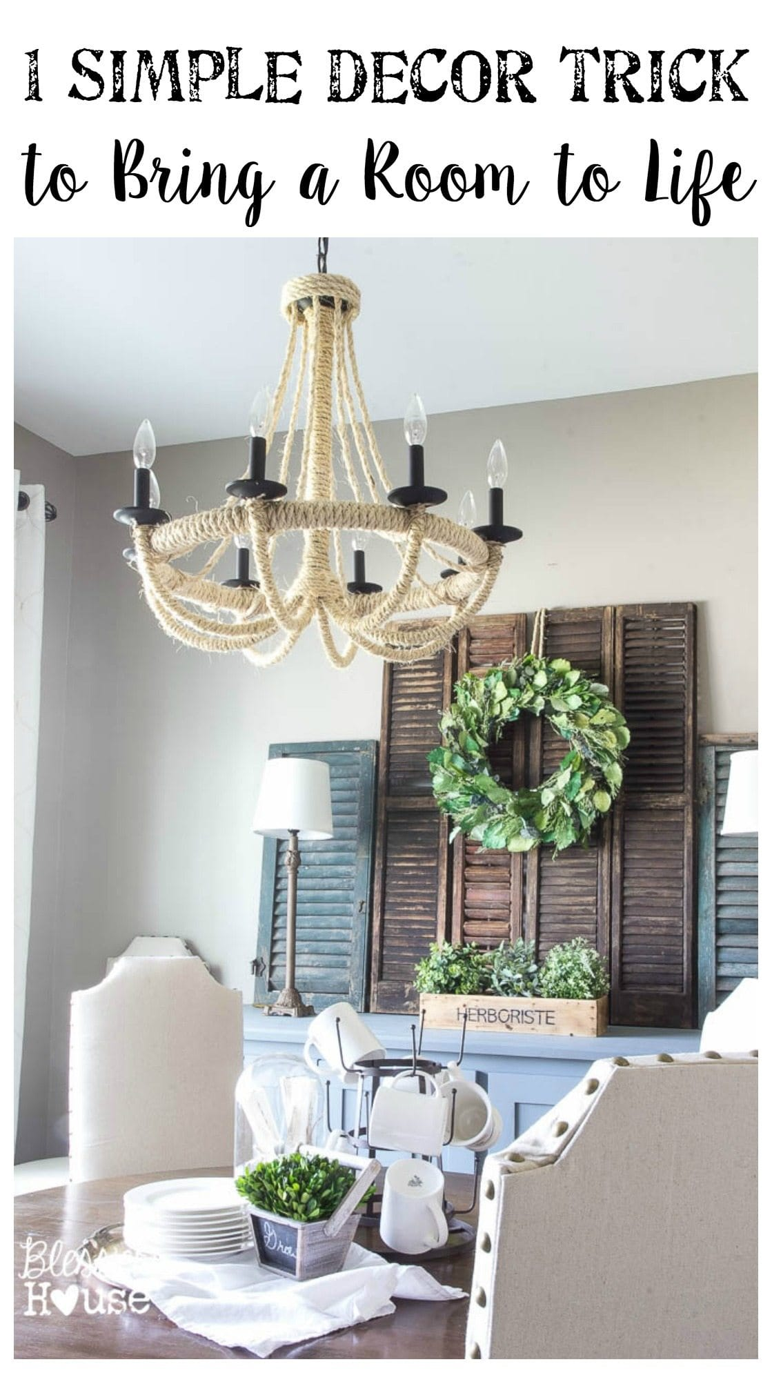 One Simple Decor Trick to Bring a Room to Life | Bless'er House -