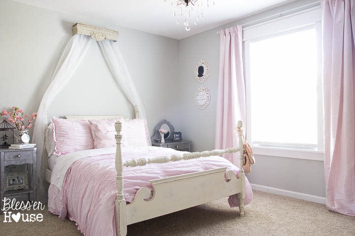 DIY Canopy from a Repurposed Shelf | Bless'er House - This version is over $400 less than the RH Baby and Child version and looks nearly identical!