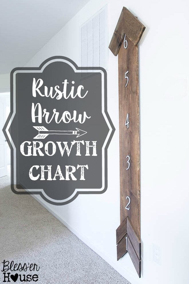 Diy Rustic Arrow Growth Chart