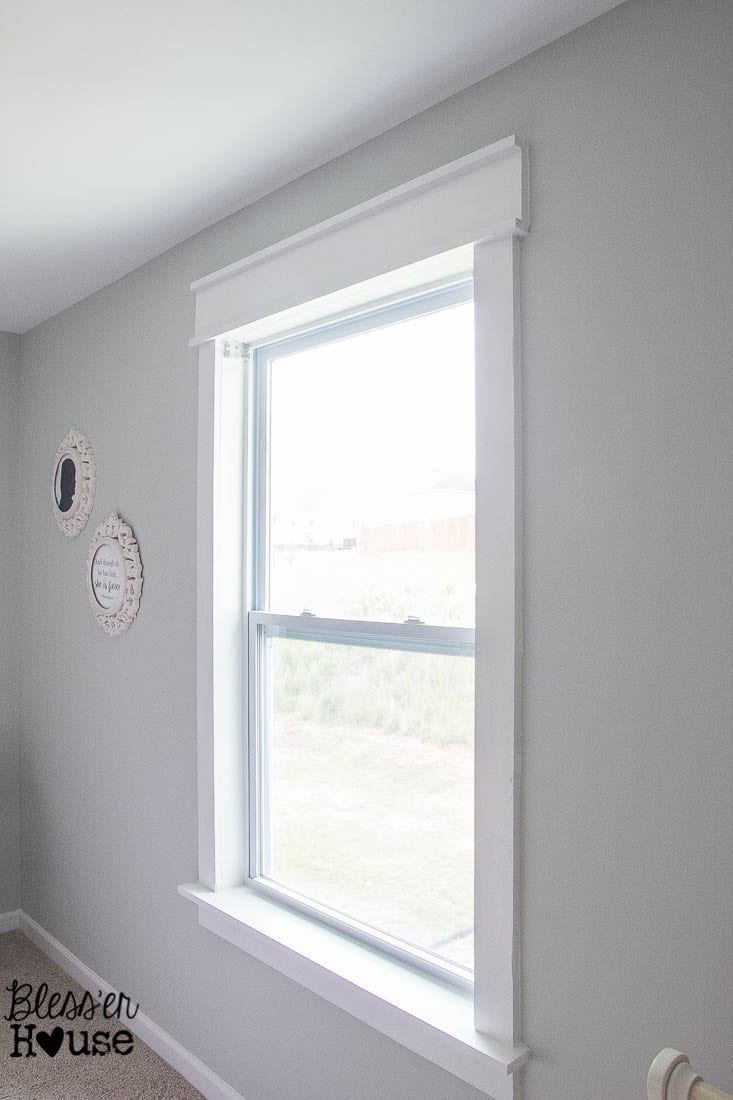 Craftsman window trim - Diy Window Trim The Easy Way Bless Er House I Want To