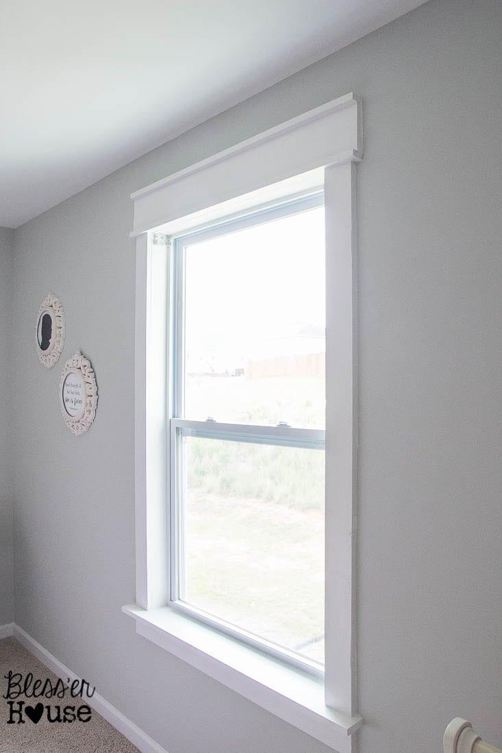 DIY Window Trim - The Easy Way