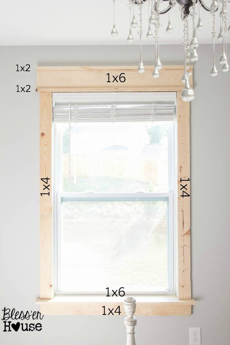 A Visual Is Probably Easier For This One Diy Window Trim