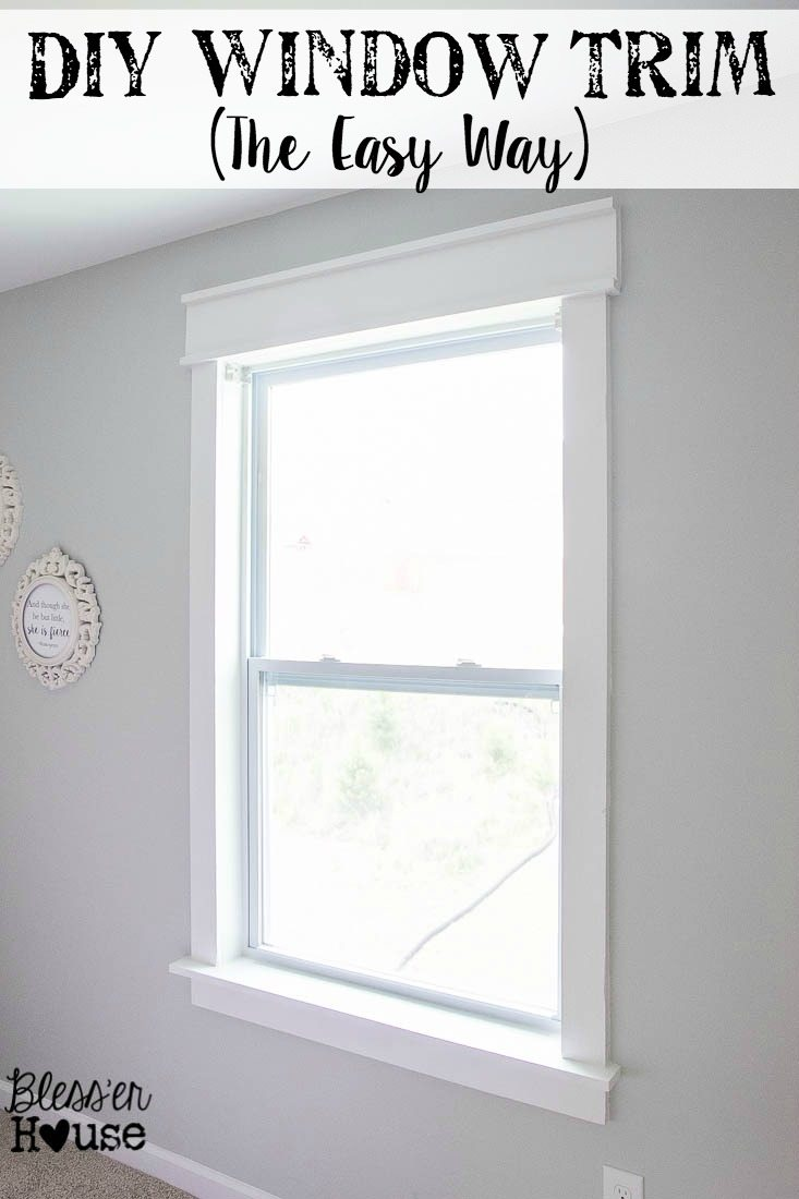 DIY Window Trim   The Easy Way | Blessu0027er House   I Want To
