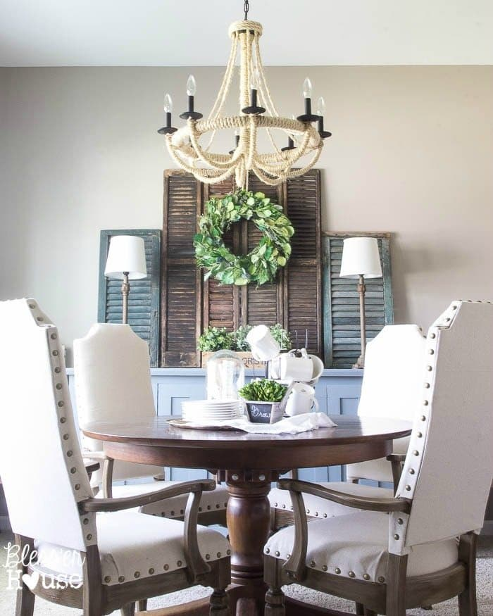 Summer French Rustic Dining Room