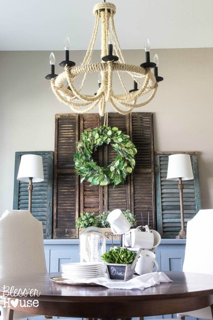 Summer French Rustic Dining Room | Bless'er House