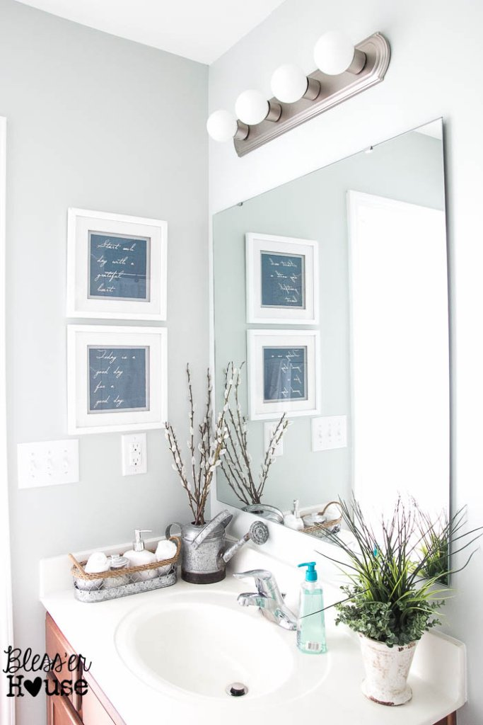 The Cheapest Resource for Bathroom Mirrors (and Bathroom Makeover Progress) | Bless'er House