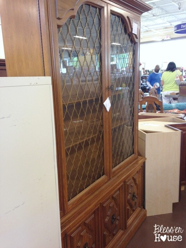 12 Goodwill Shopping Secrets Revealed | Bless'er House - this china cabinet was stashed away in a Goodwill near me. There's so much you can do to repurpose and upgrade this kind of furniture - and for SO cheap!