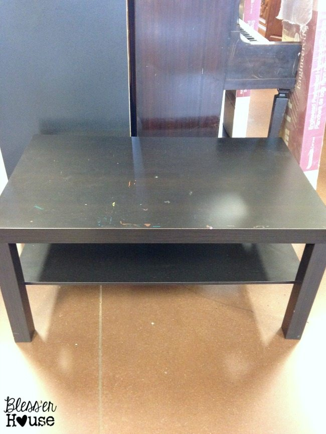 12 Goodwill Shopping Secrets Revealed | Bless'er House -- This dinged up coffee table is an easy fix and it was a total steal for only $5! It has the best DIY potential.