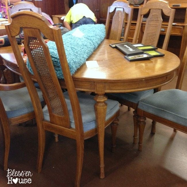 12 Goodwill Shopping Secrets Revealed | Bless'er House -- dining room furniture is something I always keep my eye open for at Goodwill. So much potential!