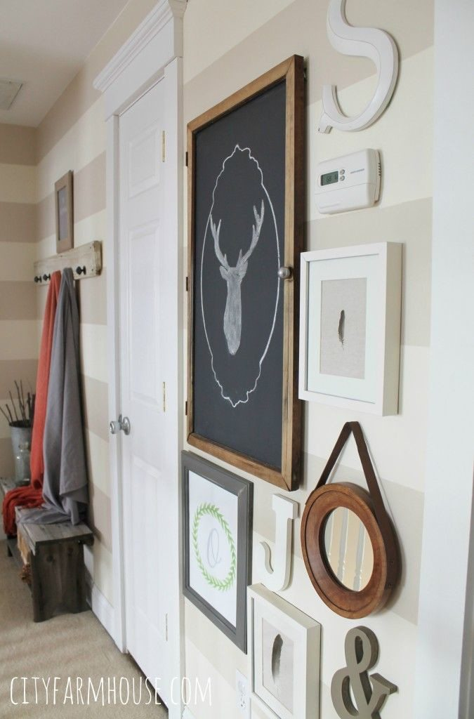DIY Rustic Arrow Growth Chart   Bless'er House - Cute twist on the oversized ruler ones!