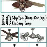 10 Stylish Non-Boring Ceiling Fans